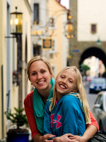 Natalie and Mandy in Rothenburg